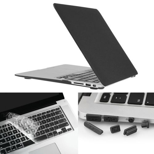 Buy ENKAY for Macbook Air 13.3 inch (US Version) / A1369 / A1466 Hat-Prince 3 in 1 Frosted Hard Shell Plastic Protective Case with Keyboard Guard & Port Dust Plug, Black for $7.19 in SUNSKY store