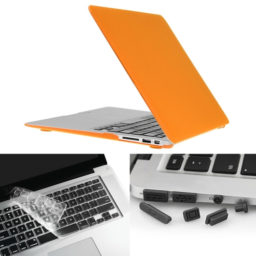 Buy ENKAY for Macbook Air 13.3 inch (US Version) / A1369 / A1466 Hat-Prince 3 in 1 Frosted Hard Shell Plastic Protective Case with Keyboard Guard & Port Dust Plug, Orange for $7.19 in SUNSKY store