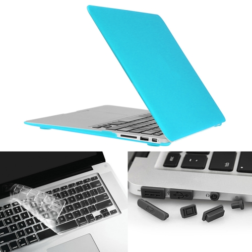 Buy ENKAY for Macbook Air 13.3 inch (US Version) / A1369 / A1466 Hat-Prince 3 in 1 Frosted Hard Shell Plastic Protective Case with Keyboard Guard & Port Dust Plug, Blue for $7.19 in SUNSKY store
