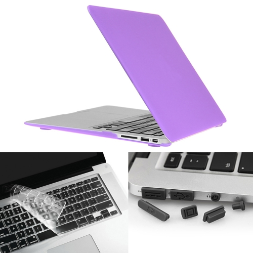 Buy ENKAY for Macbook Air 13.3 inch (US Version) / A1369 / A1466 Hat-Prince 3 in 1 Frosted Hard Shell Plastic Protective Case with Keyboard Guard & Port Dust Plug, Purple for $7.21 in SUNSKY store