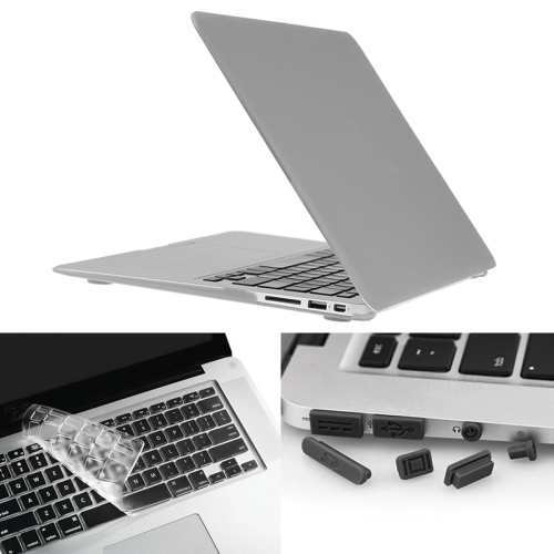 Buy ENKAY for Macbook Air 13.3 inch (US Version) / A1369 / A1466 Hat-Prince 3 in 1 Frosted Hard Shell Plastic Protective Case with Keyboard Guard & Port Dust Plug, Silver for $7.21 in SUNSKY store