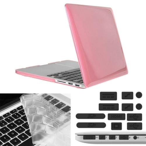 403406fe8 SUNSKY - ENKAY لحقيبة واقية Macbook Pro Retina 15.4 inch (الولايات المتحدة)  / A1398 هات-برنس 3 في 1 مع لوحة مفاتيح للحماية ومقبس الغبار (زهري)