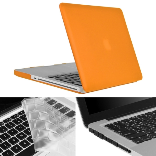 Buy ENKAY for Macbook Pro 15.4 inch (US Version) / A1286 Hat-Prince 3 in 1 Frosted Hard Shell Plastic Protective Case with Keyboard Guard & Port Dust Plug, Orange for $7.45 in SUNSKY store