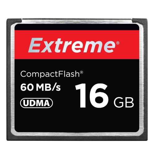 16GB Extreme Compact Flash Card, 400X Read Speed, up to 60 MB/S (100% Real Capacity)