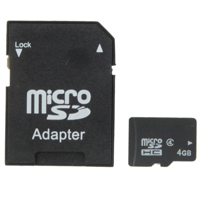 Buy 4GB High Speed Class 4 Micro SD, TF Memory Card from Taiwan, Write: 7mb/s, Read: 15mb/s (100% Real Capacity), Black for $5.53 in SUNSKY store