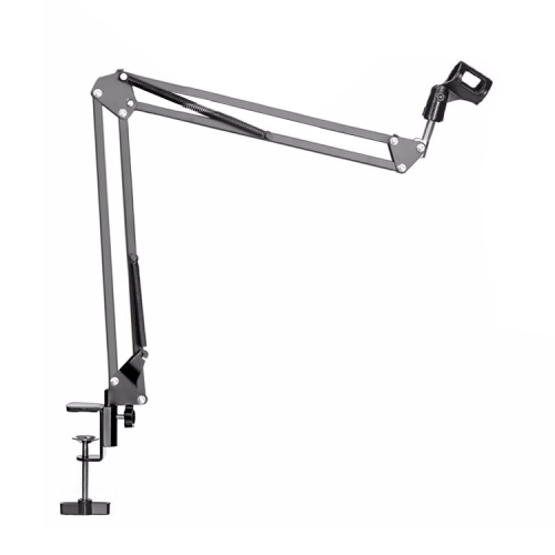 NB-35 Adjustable Table Mount Recording Microphone Suspension Arm Stand Clip Holder, For Studio Recording, Live Broadcast, Live Show, KTV, etc.(Black)