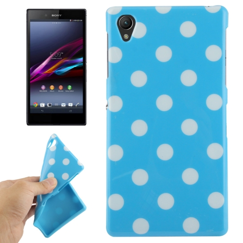 Buy Blue and White Dot Pattern TPU Protective Case for Sony Xperia Z1 / L39h / Honami / C6902 / C6903 / C6906 / Xperia i1 for $1.49 in SUNSKY store
