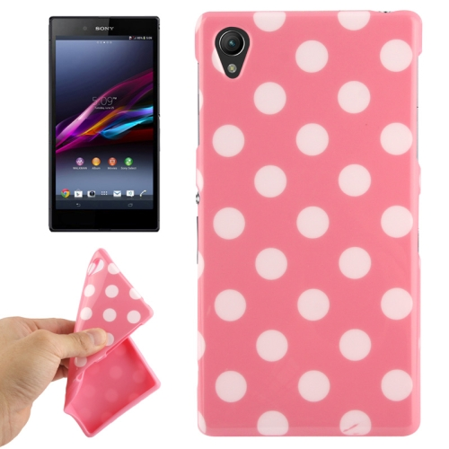 Buy Pink and White Dot Pattern TPU Protective Case for Sony Xperia Z1 / L39h / Honami / C6902 / C6903 / C6906 / Xperia i1 for $1.49 in SUNSKY store