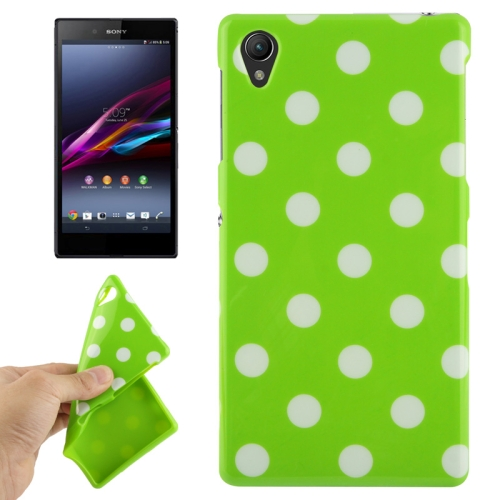 Buy Green and White Dot Pattern TPU Protective Case for Sony Xperia Z1 / L39h / Honami / C6902 / C6903 / C6906 / Xperia i1 for $1.49 in SUNSKY store