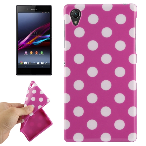 Buy Purple and White Dot Pattern TPU Protective Case for Sony Xperia Z1 / L39h / Honami / C6902 / C6903 / C6906 / Xperia i1 for $1.49 in SUNSKY store