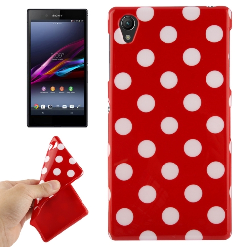 Buy Red and White Dot Pattern TPU Protective Case for Sony Xperia Z1 / L39h / Honami / C6902 / C6903 / C6906 / Xperia i1 for $1.49 in SUNSKY store