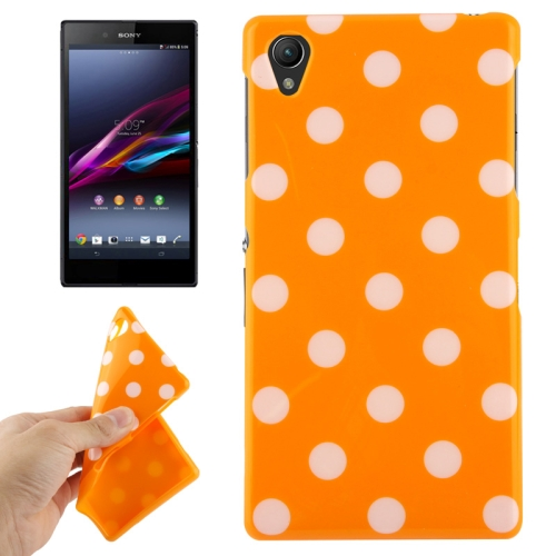 Buy Orange and White Dot Pattern TPU Protective Case for Sony Xperia Z1 / L39h / Honami / C6902 / C6903 / C6906 / Xperia i1 for $1.49 in SUNSKY store