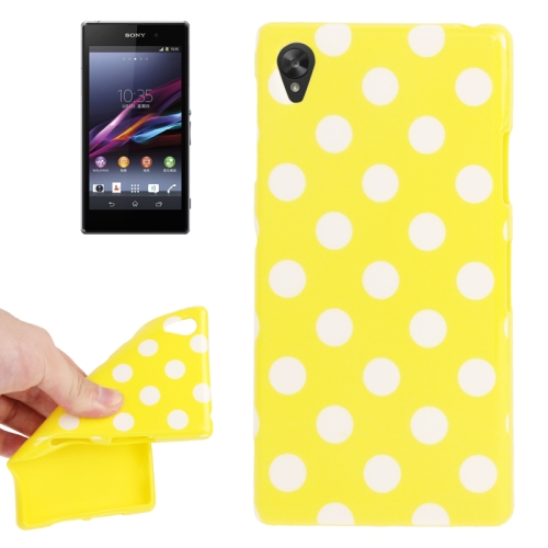 Buy Yellow and White Dot Pattern TPU Protective Case for Sony Xperia Z1 / L39h / Honami / C6902 / C6903 / C6906 / Xperia i1 for $1.54 in SUNSKY store