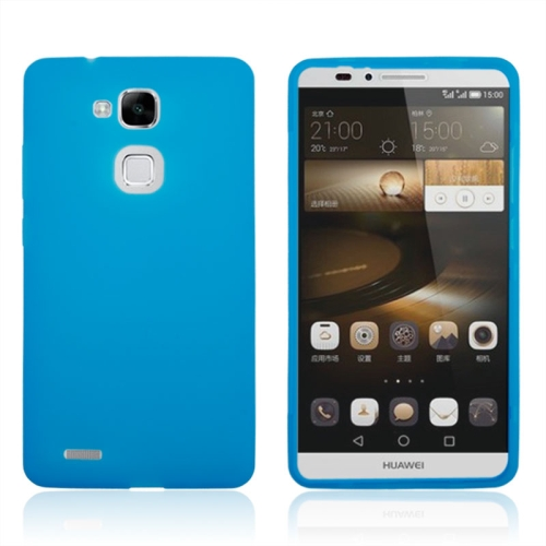 Buy Full Body TPU Skin Cover with Touchable Wallet flip Screen Protective Case for Huawei Mate 7, Blue for $2.87 in SUNSKY store