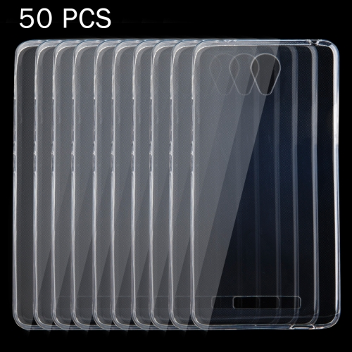 Buy 50 PCS Xiaomi Redmi Note 2 0.75mm Ultra-thin Transparent TPU Protective Case for $9.17 in SUNSKY store