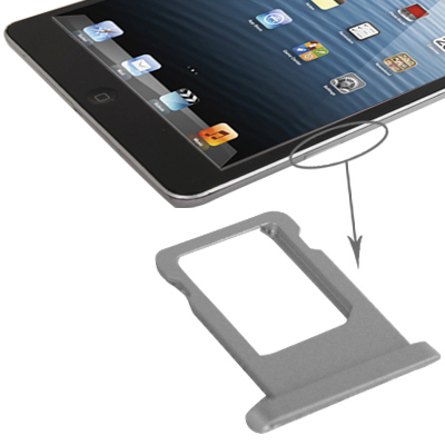 Buy iPartsBuy for iPad mini 2 Retina WLAN + Cellular Original SIM Card Tray Bracket, Silver for $1.27 in SUNSKY store