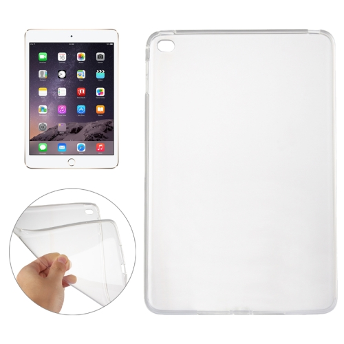 Smooth Surface TPU Case for iPad Mini 4(Transparent)