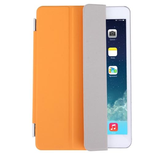 Buy Single Side Polyurethane Smart Cover with 3-Folding Holder for iPad mini / mini 2 Retina / 3, Orange for $3.71 in SUNSKY store