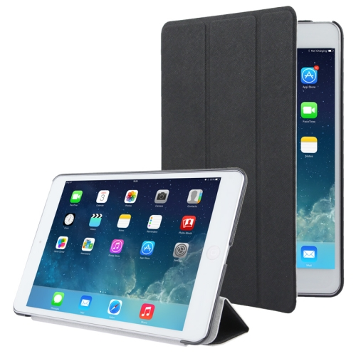 3-folding Cross Texture Leather Case with Holder & Sleep / Wake-up Function for iPad mini 1 / 2 / 3 (Black) фото