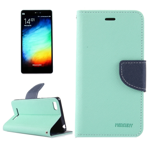 Buy For Xiaomi Mi 4c / 4i Cross Texture Horizontal Flip Leather Case with Holder & Card Slots & Wallet (Light Blue + Dark Blue) for $2.15 in SUNSKY store