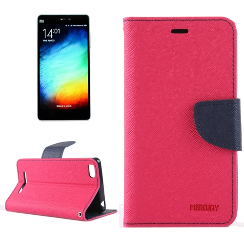 Buy For Xiaomi Mi 4c / 4i Cross Texture Horizontal Flip Leather Case with Holder & Card Slots & Wallet (Magenta + Dark Blue) for $2.15 in SUNSKY store