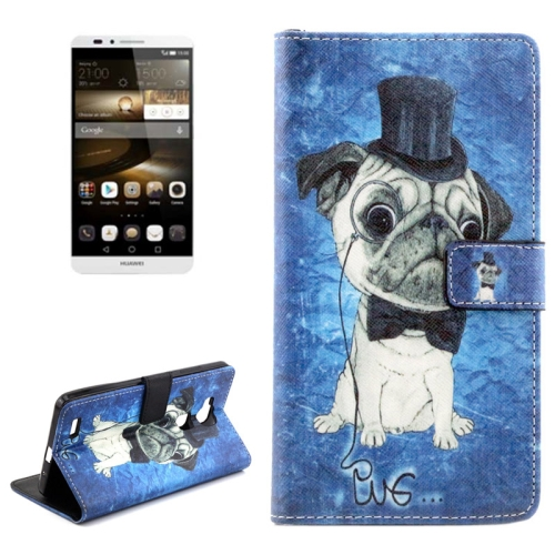 Buy Dog Pattern Horizontal Flip Leather Case with Holder & Card Slots & Wallet for Huawei Ascend Mate 7 for $2.09 in SUNSKY store