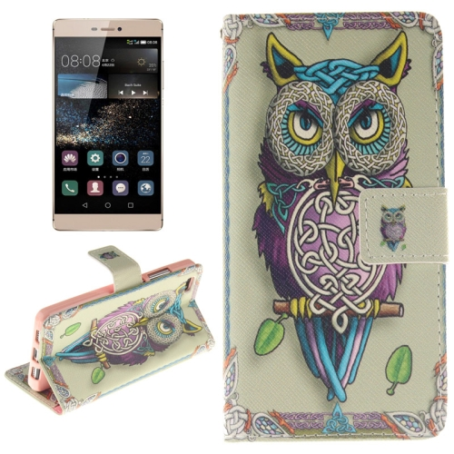 Buy Colorful Owl Pattern Horizontal Flip Leather Case with Holder & Card Slots & Wallet for Huawei P8 Lite for $2.58 in SUNSKY store