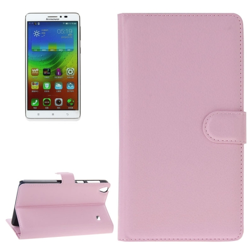 Buy Litchi Texture Flip Leather Case with Holder & Card Slots & Wallet for Lenovo Note 8 / A936, Pink for $2.29 in SUNSKY store