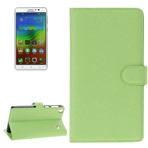 Buy Litchi Texture Flip Leather Case with Holder & Card Slots & Wallet for Lenovo Note 8 / A936, Green for $2.27 in SUNSKY store