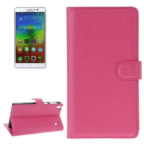 Buy Litchi Texture Flip Leather Case with Holder & Card Slots & Wallet for Lenovo Note 8 / A936, Magenta for $2.27 in SUNSKY store