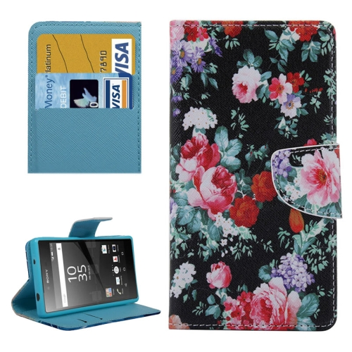 Buy Beautiful Flowers Pattern Horizontal Flip Leather Case with Holder & Card Slots & Wallet for Sony Xperia Z5 Compact for $2.30 in SUNSKY store