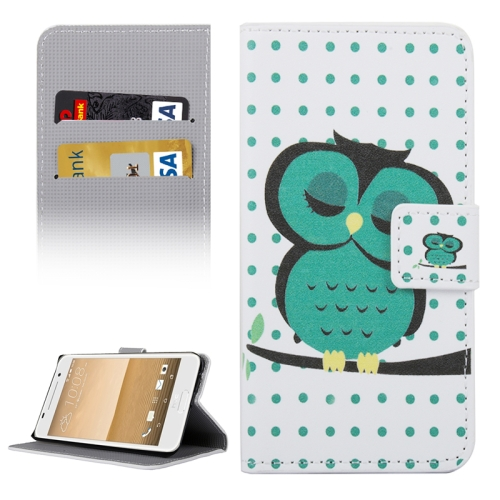 Buy For HTC One A9 Owl in Deep Thought Patterns Horizontal Flip Leather Case with Holder & Card Slots & Wallet for $2.30 in SUNSKY store