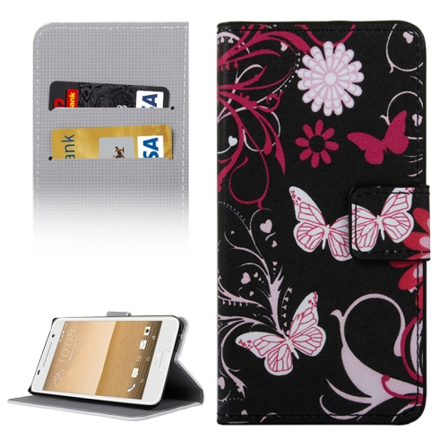 Buy For HTC One A9 Butterflies Love Flowers Patterns Horizontal Flip Leather Case with Holder & Card Slots & Wallet for $2.30 in SUNSKY store