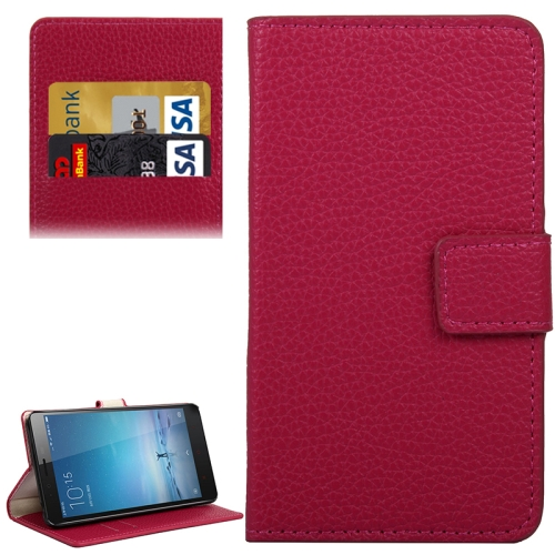 Buy Litchi Texture Horizontal Flip PC + PU Leather Case with Holder & Card Slots & Wallet for Xiaomi Redmi Note 2, Red for $2.29 in SUNSKY store