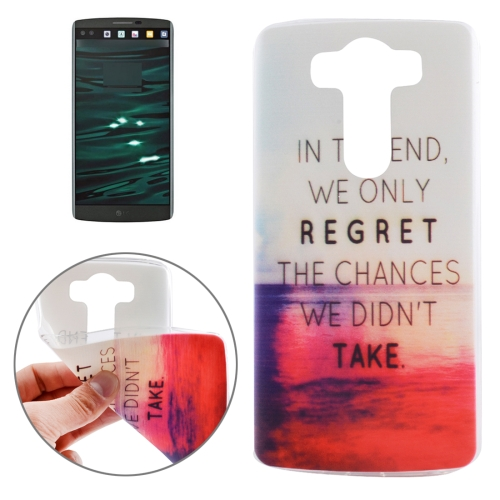 Buy Ultrathin Words Hang Over the Sea Pattern Soft TPU Protective Cover Case for LG V10 for $1.16 in SUNSKY store
