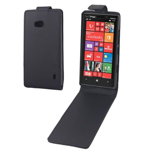 Buy Vertical Flip Leather Case for Nokia Lumia 929 / Lumia 930, Black for $1.53 in SUNSKY store