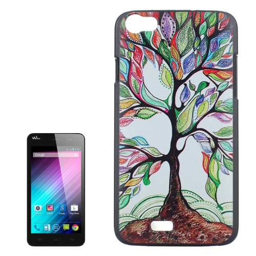 Tree Pattern Colored Drawing PC Protective Case for Wiko Lenny