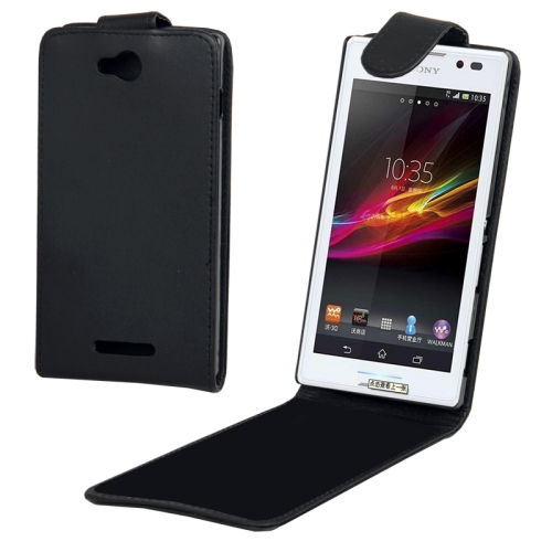 Buy Vertical Flip Leather Case for Sony Xperia C / S39h, Black for $1.32 in SUNSKY store