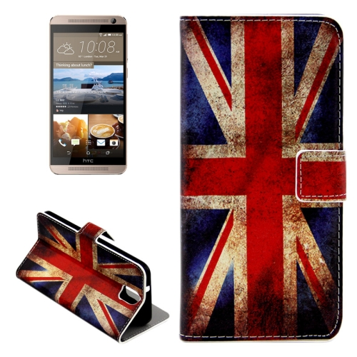 Buy For HTC One E9+ Retro UK Flag Pattern Leather Case with Holder & Card Slots & Wallet for $2.42 in SUNSKY store