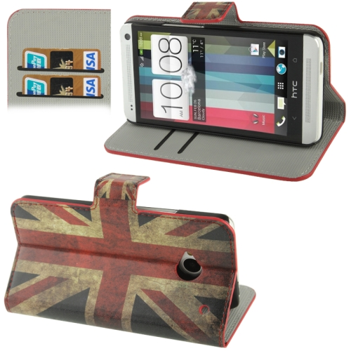 Buy Retro UK Flag Pattern Horizontal Flip Leather Case with Credit Card Slot & Holder for HTC One / M7 for $2.29 in SUNSKY store