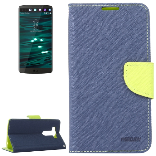 Buy Cross Texture Horizontal Flip Leather Case with Holder & Wallet & Card Slots for LG V10 (Dark Blue) for $2.15 in SUNSKY store