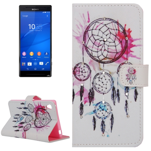 Buy Dreamcatcher Pattern Horizontal Flip Diamond Encrusted Leather Case with Holder & Wallet & Card Slots for Sony Xperia Z4 for $2.47 in SUNSKY store