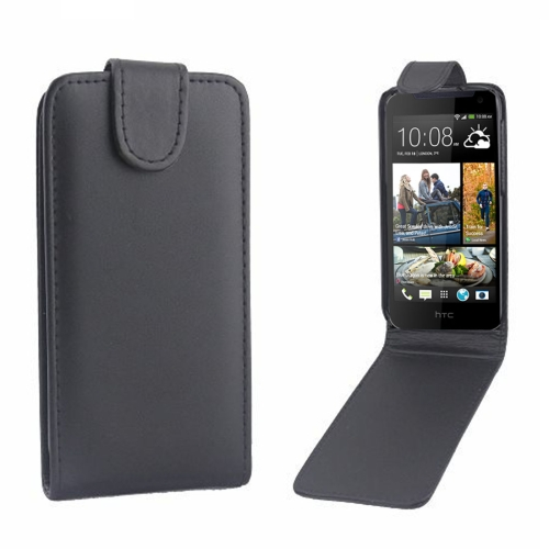 Buy For HTC Desire 310 Vertical Flip Magnetic Snap Leather Case, Black for $1.43 in SUNSKY store