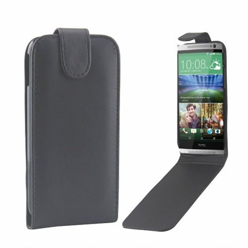 Buy For HTC One M8 Vertical Flip Magnetic Snap Leather Case, Black for $1.43 in SUNSKY store