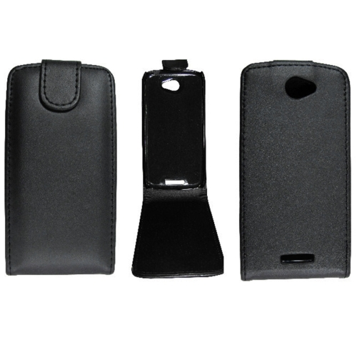 Buy For HTC One S / Z520e Vertical Flip Magnetic Snap Leather Case, Black for $1.44 in SUNSKY store