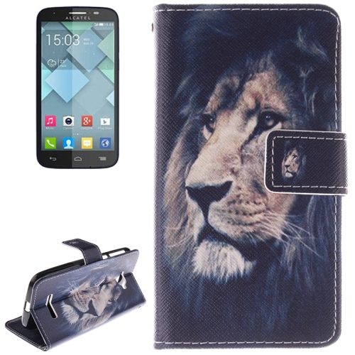 Buy Lion Pattern Leather Case with Holder & Card Slot & Wallet for Alcatel One Touch Pop C7 for $2.58 in SUNSKY store