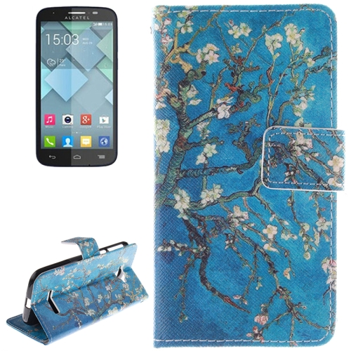 Buy Plum Pattern Leather Case with Holder & Card Slot & Wallet for Alcatel One Touch Pop C7 for $2.58 in SUNSKY store