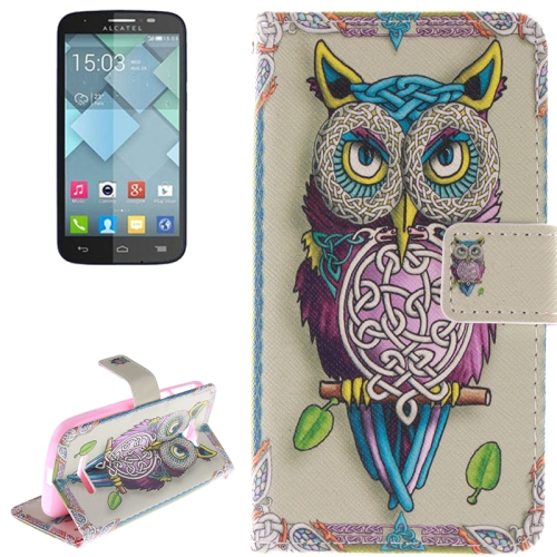 Buy Owl Pattern Leather Case with Holder & Card Slot & Wallet for Alcatel One Touch Pop C7 for $2.58 in SUNSKY store