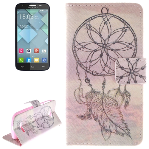 Buy National Style Cap Pattern Leather Case with Holder & Card Slot & Wallet for Alcatel One Touch Pop C7 for $2.58 in SUNSKY store