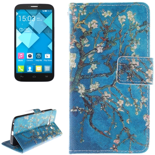 Buy Plum Pattern Leather Case with Holder & Card Slot & Wallet for Alcatel One Touch Pop C9 for $2.58 in SUNSKY store